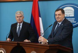"""U JEKU KRIZE """"ALUMINIJA"""" Dodik iznenada posjetio Čovića, sastanak trajao pola sata"""