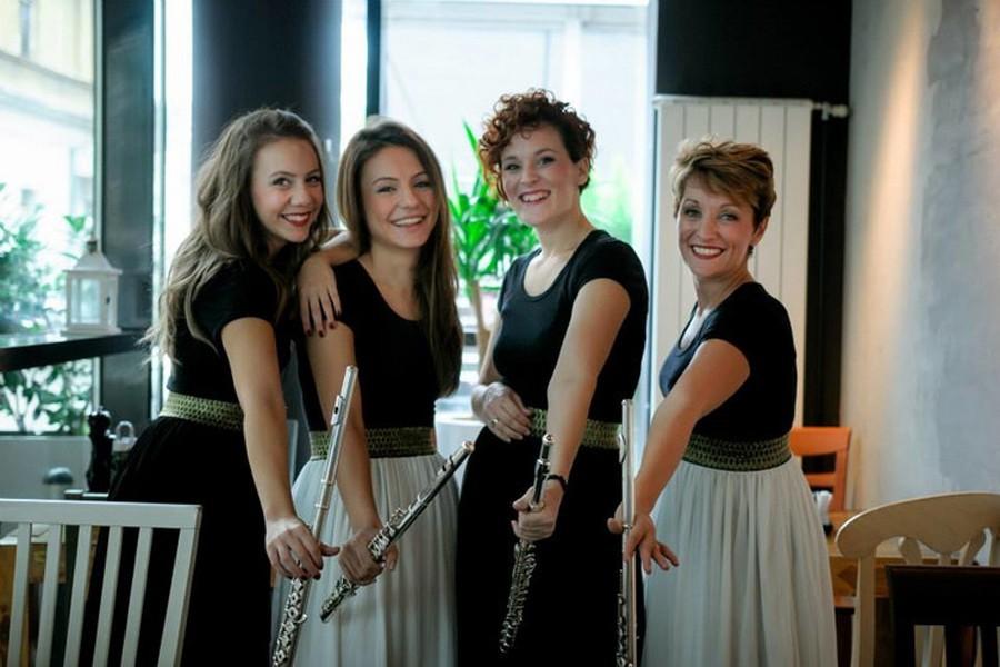 "BARŠUNASTA MUZIKA FLAUTE Koncert kvarteta ""Flutete"" u Gradskom pozorištu ""Jazavac"""