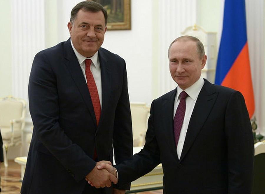 NAJLJEPŠE ŽELJE STIŽU IZ RUSIJE Putin čestitao Dodiku predstojeće praznike