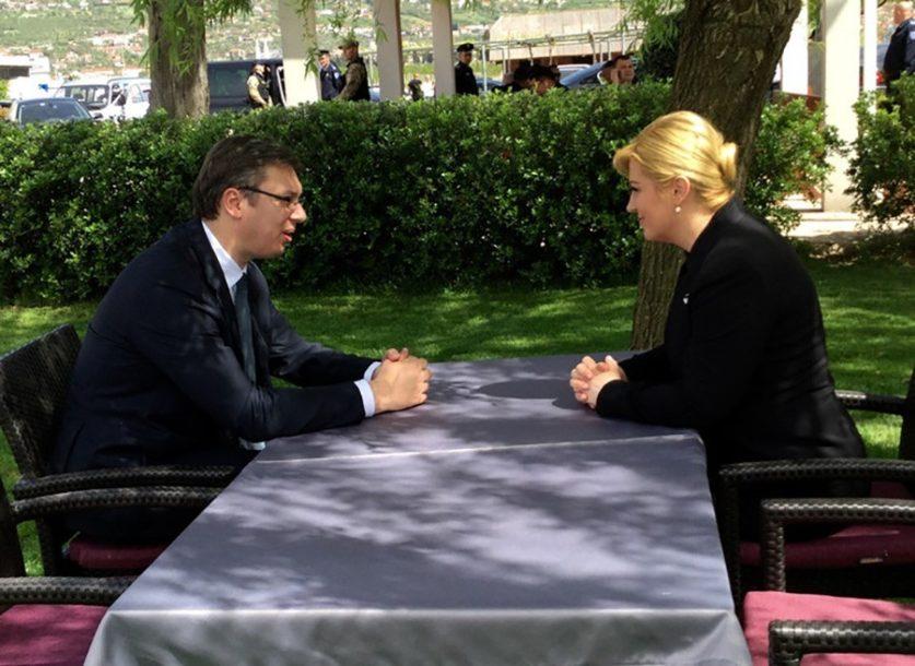 ZAHLAĐENJE ODNOSA Zbog izjave Vučića hrvatska predsjednica neće doći u Srbiju