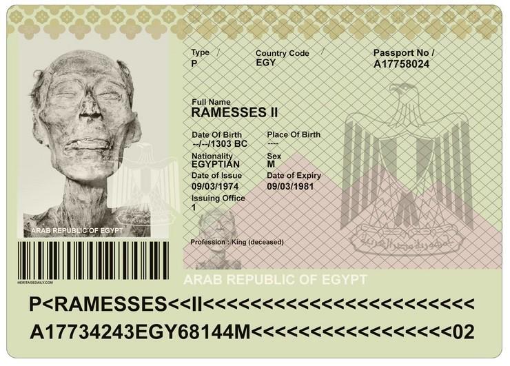 f9c0e92cb6 ŽIVOT POSLIJE SMRTI Faraon Ramzes Veliki dobio je pasoš 3.000 godina NAKON  ŠTO JE UMRO