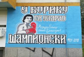 MARIJAN BENEŠ INSPIRIŠE NOVE GENERACIJE Mladi umjetnik naslikao MURAL proslavljenog boksera