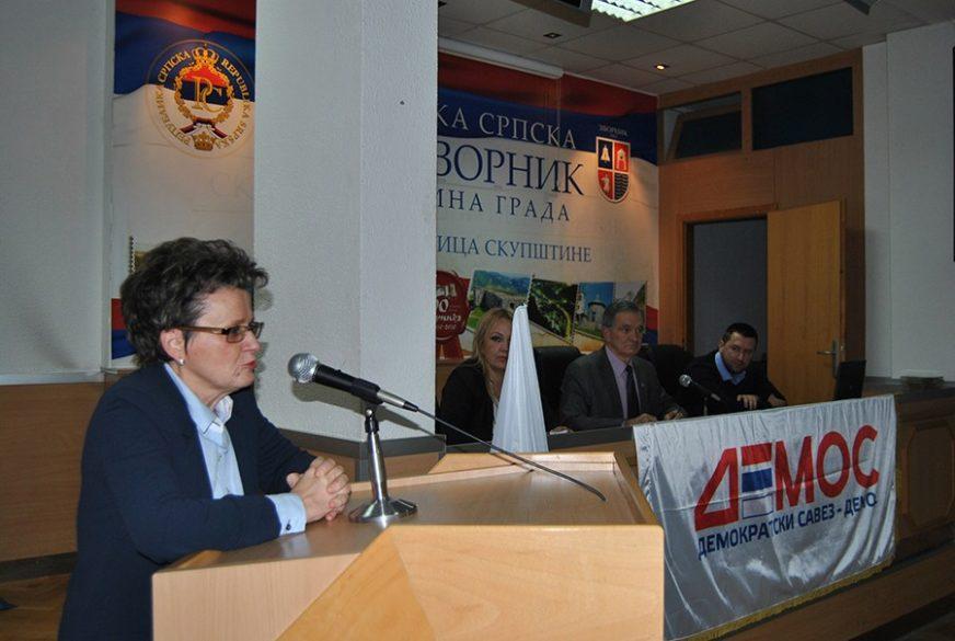 Spomenka Stevanović predsjednik Gradskog odbora DEMOS-a u Zvorniku