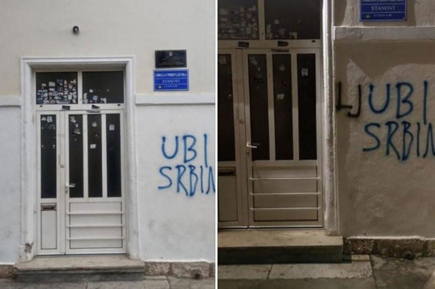 """NEĆE DA TRPI GOVOR MRŽNJE Hrvat ugledao grafit """"ubi Srbina"""", dodao jedno slovo i ZAČEPIO SVIMA USTA (FOTO)"""