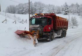 KAO U NEKA DAVNA VREMENA Radnik zimske službe iz prikolice RUKAMA baca so na asfalt (FOTO)