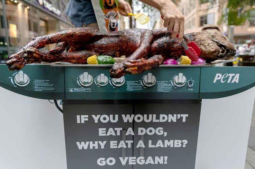 """PRIZOR ŠOKIRAO Vegani """"roštiljali"""" psa nasred ulice i uplašili djecu, a cilj im je OVAJ"""