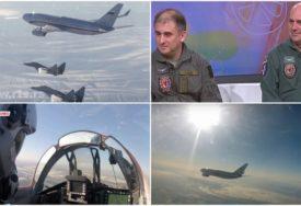 POZDRAV NA NEBU Kako je izgledao BLISKI SUSRET srpskih pilota sa ruskim predsjedničkim avionom (FOTO, VIDEO)