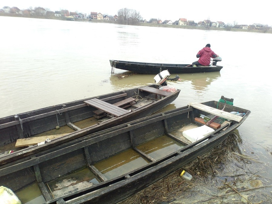 DRVOLOVCI NA SAVI Siromašni građani Gradiške OGRJEV nakon poplava HVATAJU U RIJECI (FOTO)