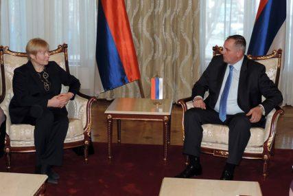 """Višković na sastanku sa ambasadorkom Homan: """"Vlada Srpske opredjeljena za evropski put"""""""