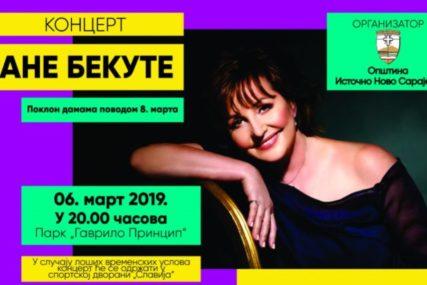 POKLON DAMAMA ZA 8. MART Večeras koncert Ane Bekute u Istočnom Novom Sarajevu