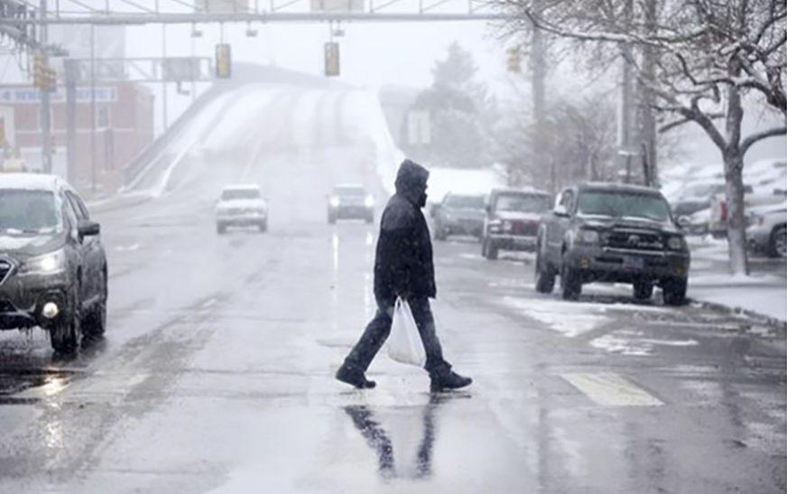 PRIPREMITE ŠAL, RUKAVICE I KIŠOBRAN Sutra svježije sa susnježicom i snijegom