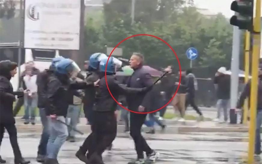 NEVJEROVATNA SCENA U RIMU Siniša Mihajlović pošao da se obračuna sa navijačem, policija ga zaustavila (VIDEO)