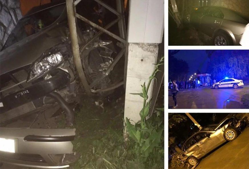 STRAŠNA SAOBRAĆAJKA Maloljetnik vozio 100 na sat i udario drugi automobil, TRUDNICA ISPALA IZ KOLA I završila u jarku