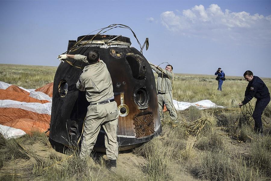 "Svemirski brod ""Sojuz"" prizemljio se u Kazahstan"