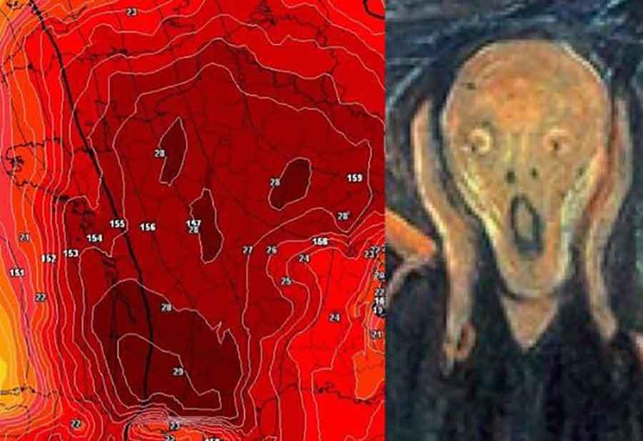 Zbog Temperatura Ljudi U Strahu Mapa Iznad Francuske U Obliku