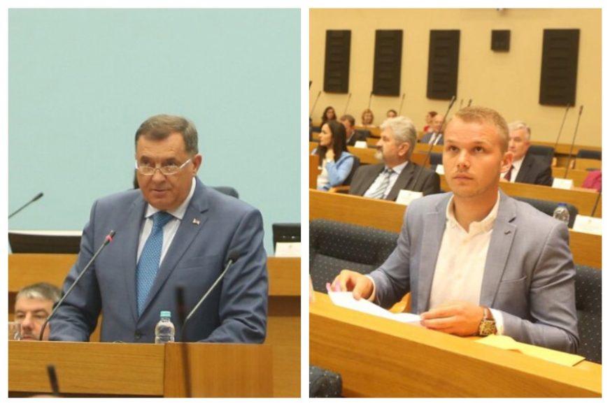 PRŠTE UVREDE NA RAČUN PORODICA Žestok okršaj Dodika i Stanivukovića u Narodnoj skupštini RS