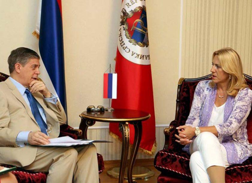 Vigemark se sastao sa predsjednicom RS: Za nastavak EU INTEGRACIJA neophodno FORMIRANJE VLASTI