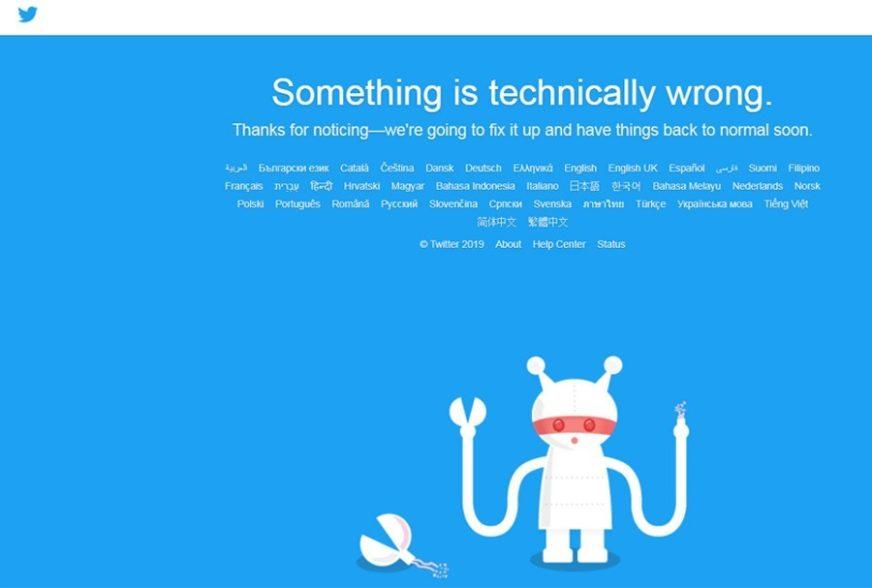 POPULARNA DRUŠTVENA MREŽA PALA Iz Tvitera poručili da rade na otklanjanju kvara