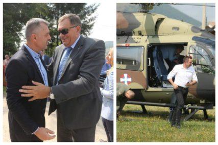 Vulin i Dodik stigli helikopterima na zborište na Manjači (FOTO)