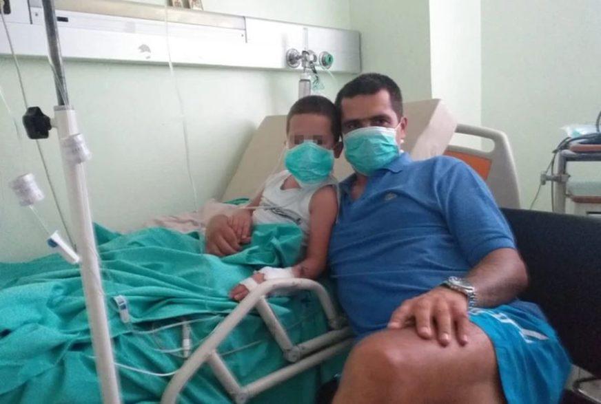 EMOTIVNA PORUKA IZ BOLNICE Prva fotografija dječaka nakon što se umalo utopio u Grčkoj