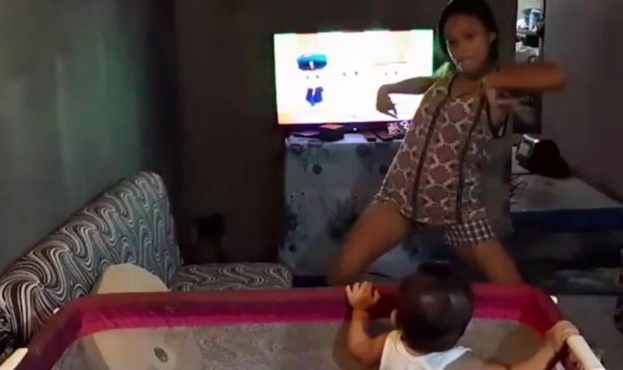 NESTAŠNA TETA Zamolili su je da pričuva dijete, a onda je kamera snimila njen VRELI PLES (VIDEO)