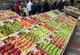 GRAĐANI SVE MANJE PAZARE Pala vrijednost prometa poljoprivrednih proizvoda na pijacama