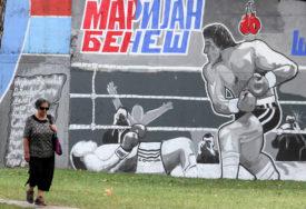 """LIJEP GEST  Preko puta dvorane """"Borik"""" osvanuo mural posvećen Marijanu Benešu"""