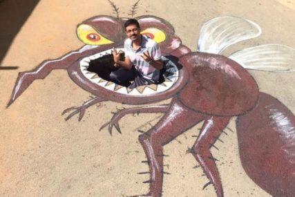 KREATIVNA IDEJA Indijski umjetnik kroz 3D slike skreće pažnju na rupe na putu (FOTO, VIDEO)