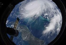 STRAŠNA OLUJA NAPRAVILA PUSTOŠ Zastrašujući prizori uragana Dorijan snimljeni iz svemira (VIDEO)