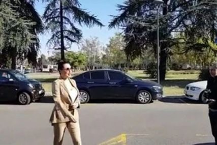 OSMIJEH I POZDRAV NOVINARIMA Ceca raspoložena došla na suđenje sa Karleušom
