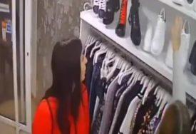 RASPLET HIT KRAĐE Djevojke došle u butik sa roditeljima i VRATILE PATIKE (VIDEO)