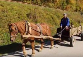 """""""NE MOŽE GDJE ON IDE I RADI"""" Lazo ne da svog konja ni za tri traktora (VIDEO)"""