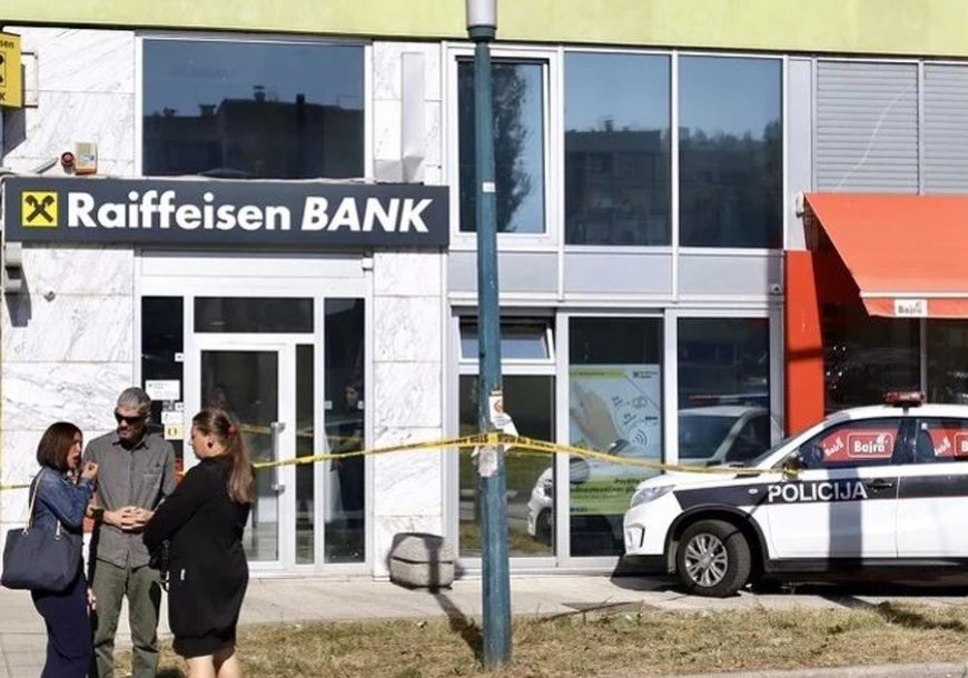OSTAO BEZ PLIJENA I SLOBODE Detalji pokušaja pljačke banke u Sarajevu
