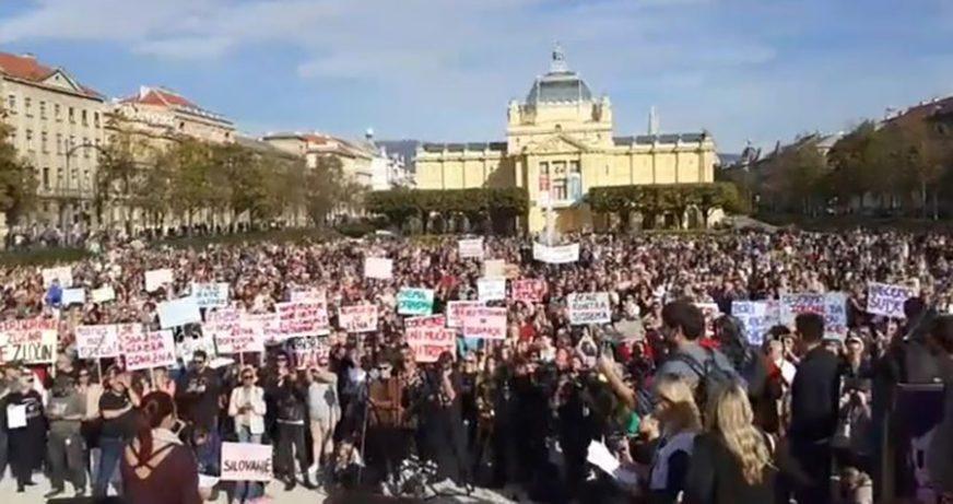 "MASOVNI PROTESTI ""NISI SAMA"" Hrvatska ustala protiv SEKSUALNOG NASILJA (VIDEO)"