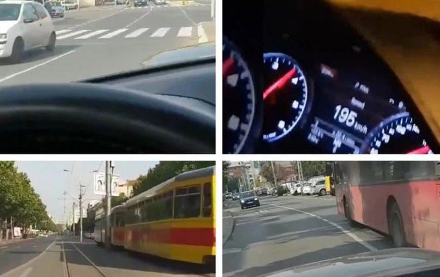 DIVLJAJU I SNIMAJU Voze 200 na sat po gradu, često i u kontrasmjeru, prolaze na crveno (VIDEO)