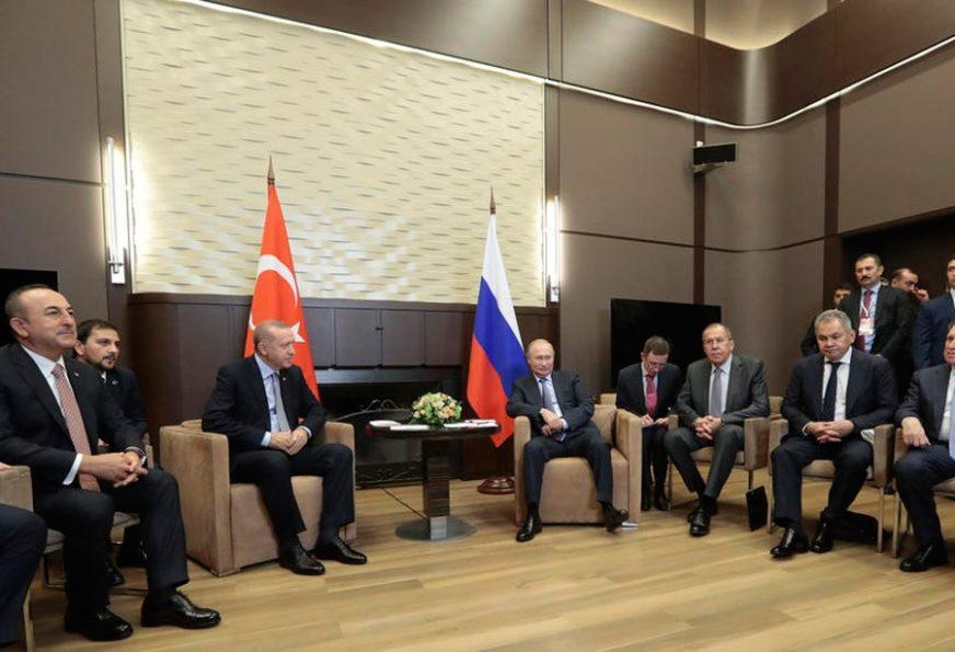 MARATONSKI SASTANAK Razgovor Putina i Erdogana traje već pet sati (VIDEO)