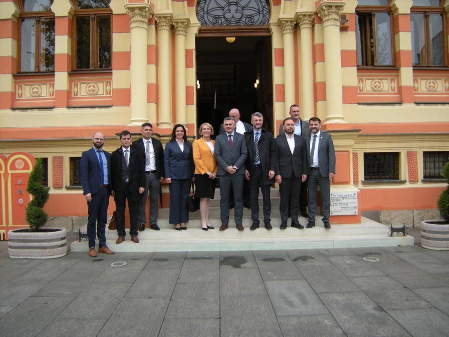 SARADNJA NA PROJEKTIMA Delegacija Vlade i Skupštine Kantona Sarajevo u posjeti Brčko distriku