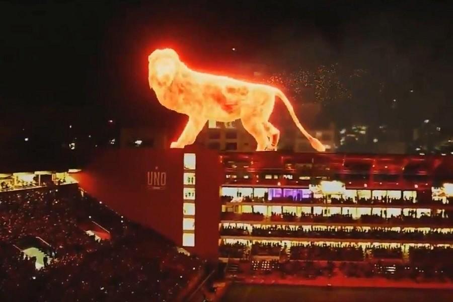 SPEKTAKL Vatreni lav na stadionu Estudiantesa (VIDEO)