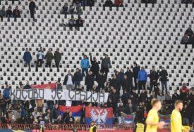 """OPET KAZNA OD UEFA Fudbalski savez Srbije na tapetu zbog povika i zastave """"Kosovo je Srbija"""""""