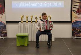 Đorđe Perić najbolji na FESTIVALU HARMONIKE u Gracu