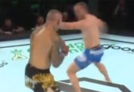 """KAKAV NOKAUT MMA borac """"kotrljajućim gromom"""" poslao protivnika na spavanje (VIDEO)"""