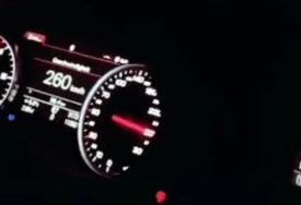 OPASNA VOŽNJA Divljao brzinom od 260 KILOMETARA NA SAT i sve to snimao (VIDEO)