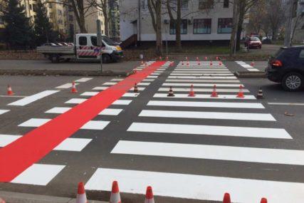 PRIORITET ZONE ŠKOLA Počelo obilježavanje horizontalne saobraćajne signalizacije