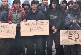 """""""GLADNI SMO, UMIREMO"""" Migranti žele da što prije pobjegnu iz BiH u Evropsku uniju (VIDEO)"""