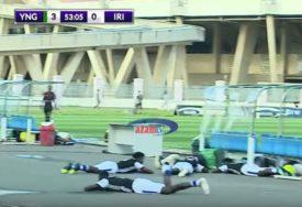NESVAKIDAŠNJA SCENA Roj pčela prekinuo utakmicu, fudbaleri se bacali po terenu (VIDEO)
