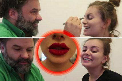 Dala je mužu da je NAŠMINKA, kada je vidjela šta joj je uradio sa licem, ZACENILA SE (VIDEO)