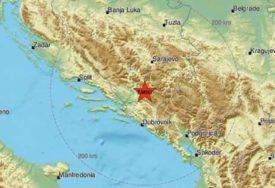 TRESLO SE TRI PUTA U BiH Zemljotres 3,8 stepeni Rihtera u blizini Nevesinja