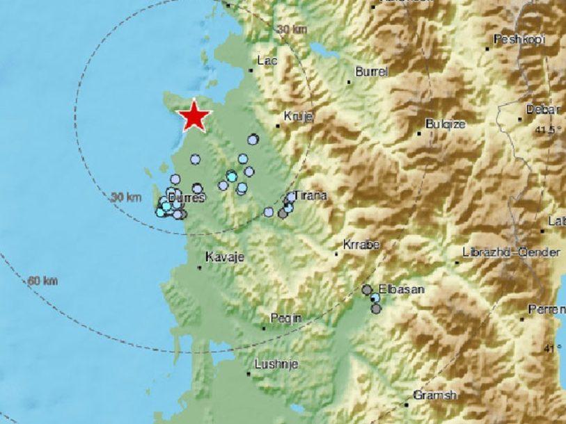 ALBANIJA SE PONOVO TRESE Drač pogodio zemljotres jačine 4,9 stepeni, OSJETIO SE I U CRNOJ GORI
