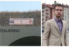 """""""ONI ĆE GA UKLONITI"""" Begić prijavio policiji postavljanje novog transparenta na auto-putu"""