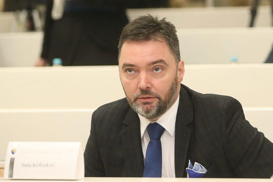 """KOŠARAC PORUČUJE """"Opozicija u Srpskoj napada bez argumenata"""""""